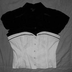 bebe Womens Black/White top